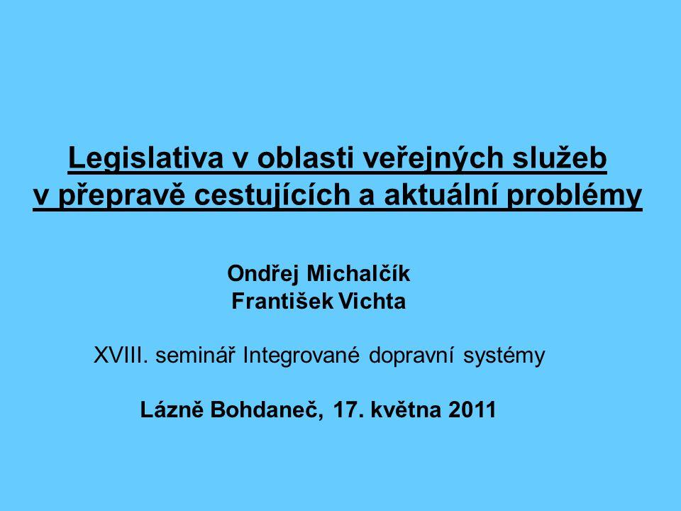 XVIII. seminář Integrované dopravní systémy