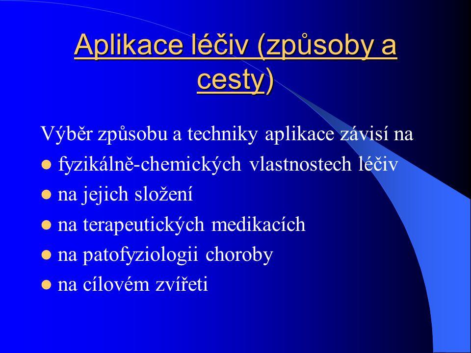 Aplikace léčiv (způsoby a cesty)