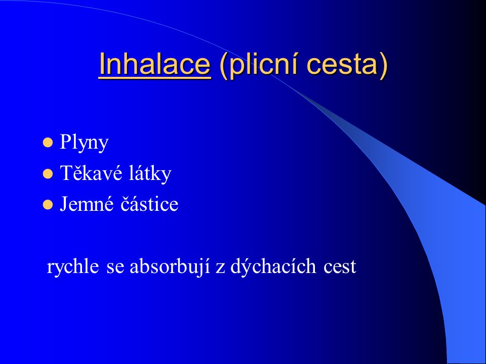 Inhalace (plicní cesta)