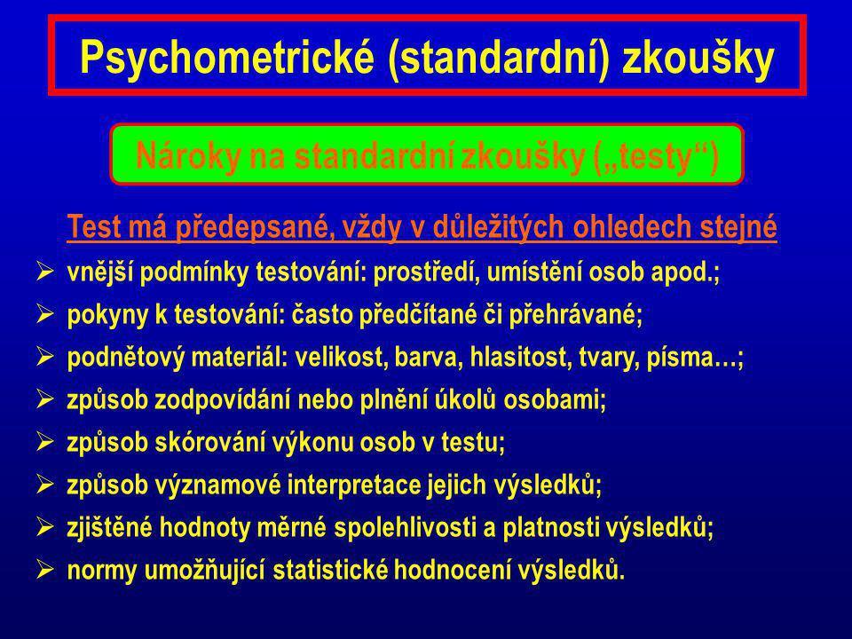 Psychometrické (standardní) zkoušky