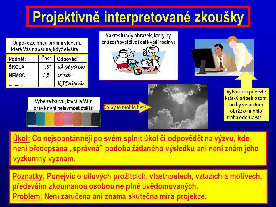 Projektivně interpretované zkoušky