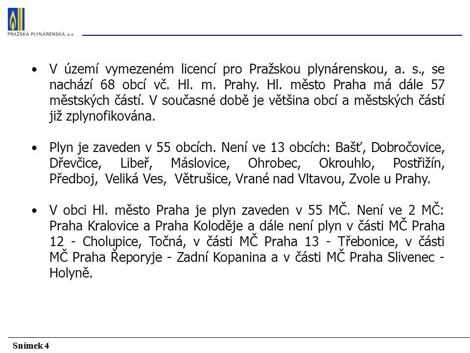 V území vymezeném licencí pro Pražskou plynárenskou, a. s. , se