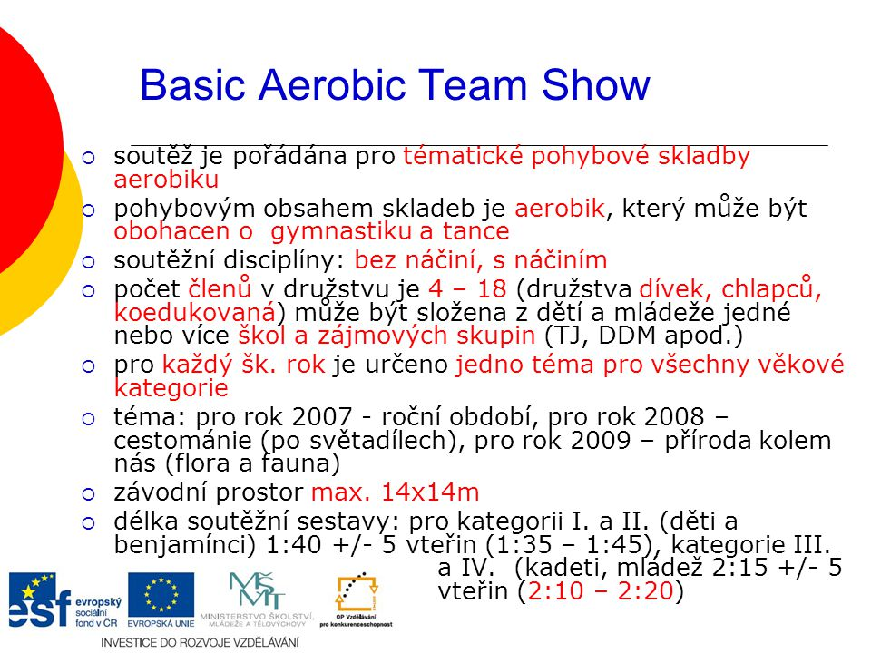 Basic Aerobic Team Show