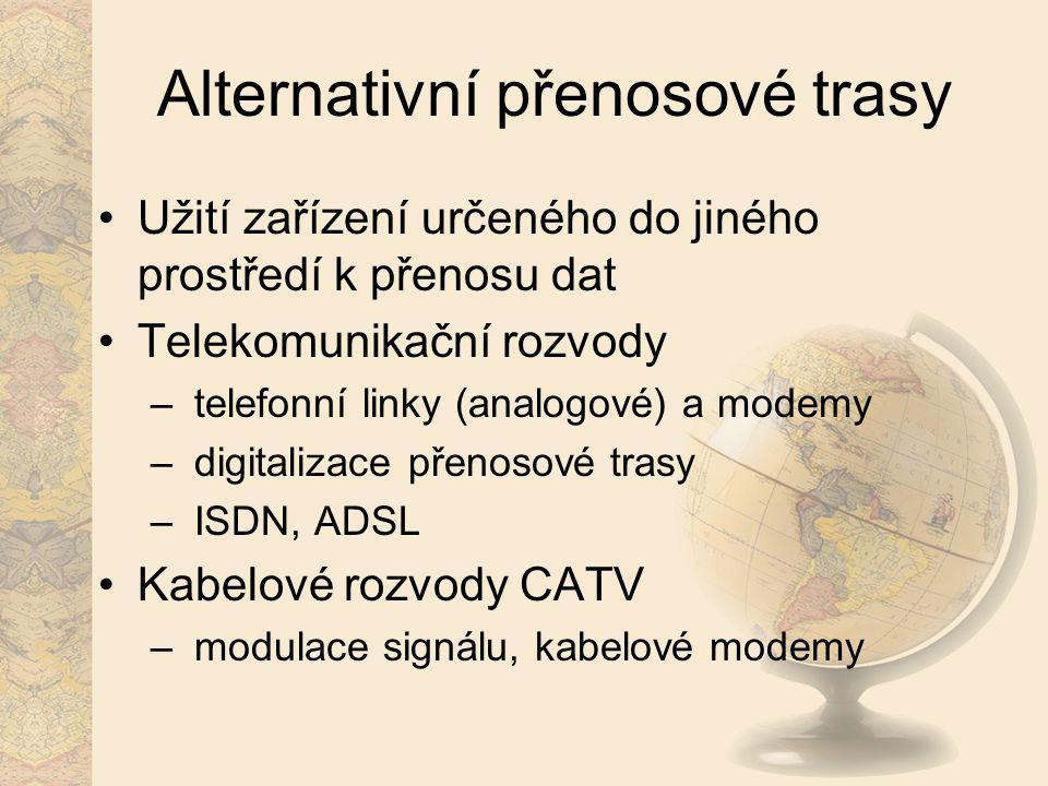 Alternativní přenosové trasy
