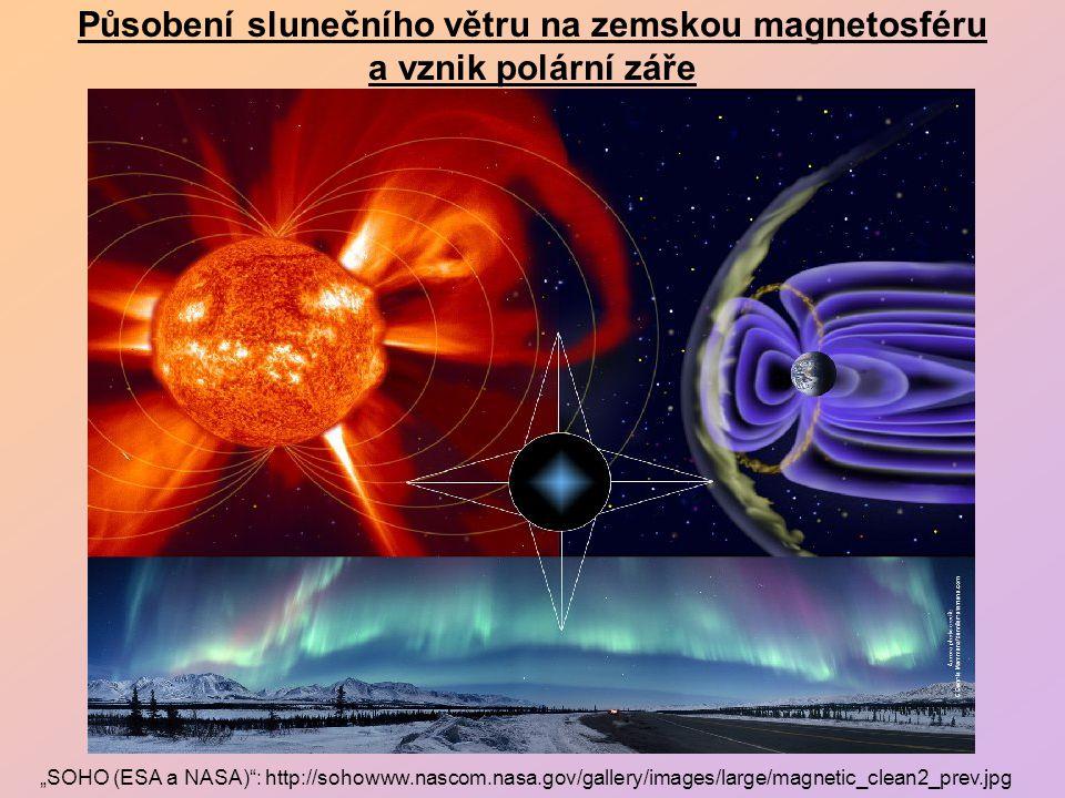 Působení slunečního větru na zemskou magnetosféru a vznik polární záře