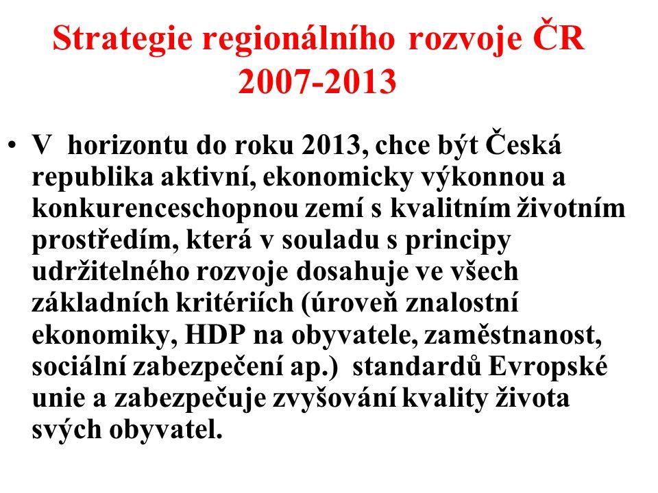 Strategie regionálního rozvoje ČR 2007-2013