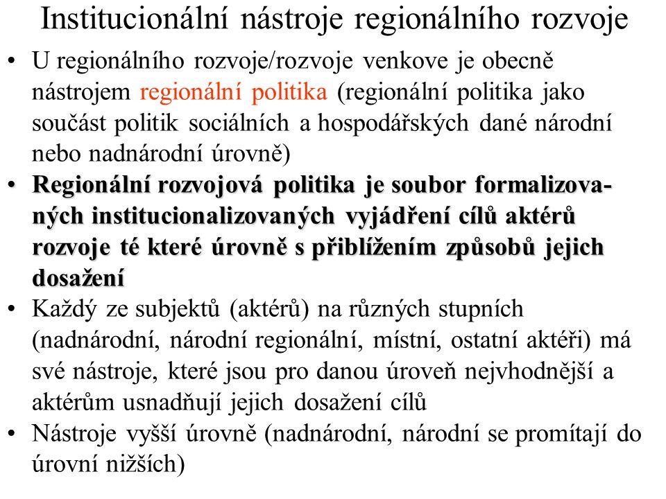 Institucionální nástroje regionálního rozvoje