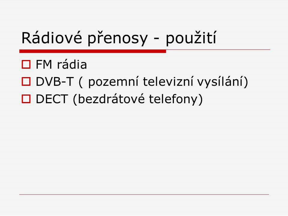 Rádiové přenosy - použití