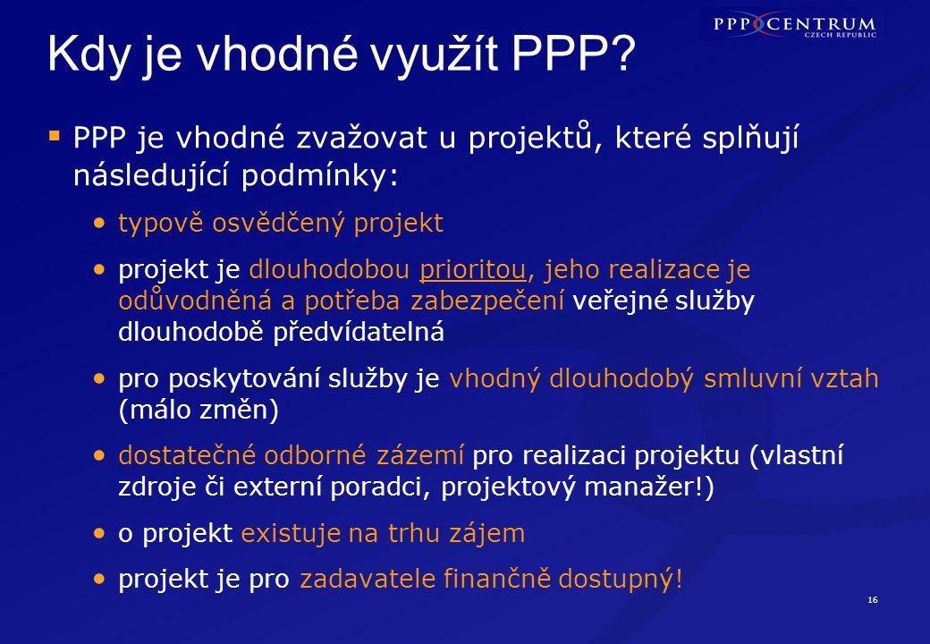 OMYL! Mýty o PPP I. PPP je pouze jiný způsob financování