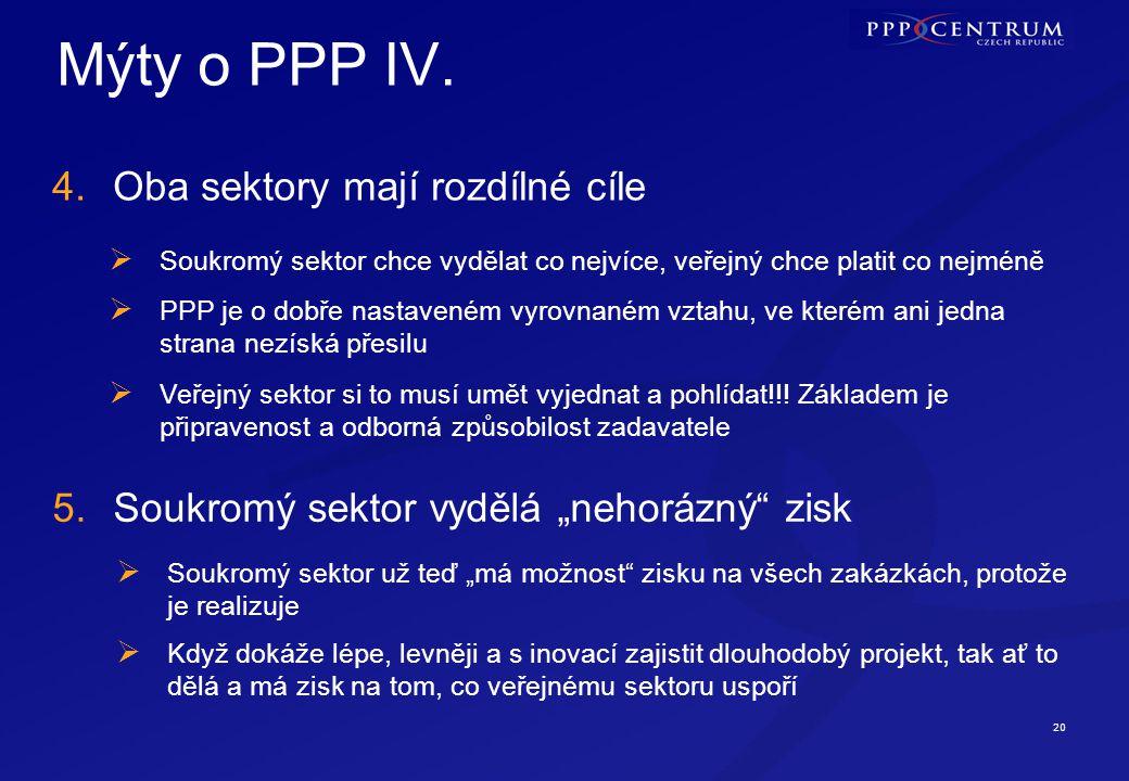 Mýty o PPP V. 6. PPP umožňuje skryté zadlužování veřejného sektoru