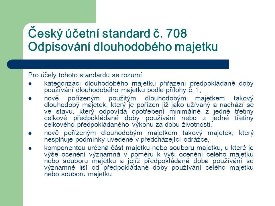 Český účetní standard č. 708 Odpisování dlouhodobého majetku