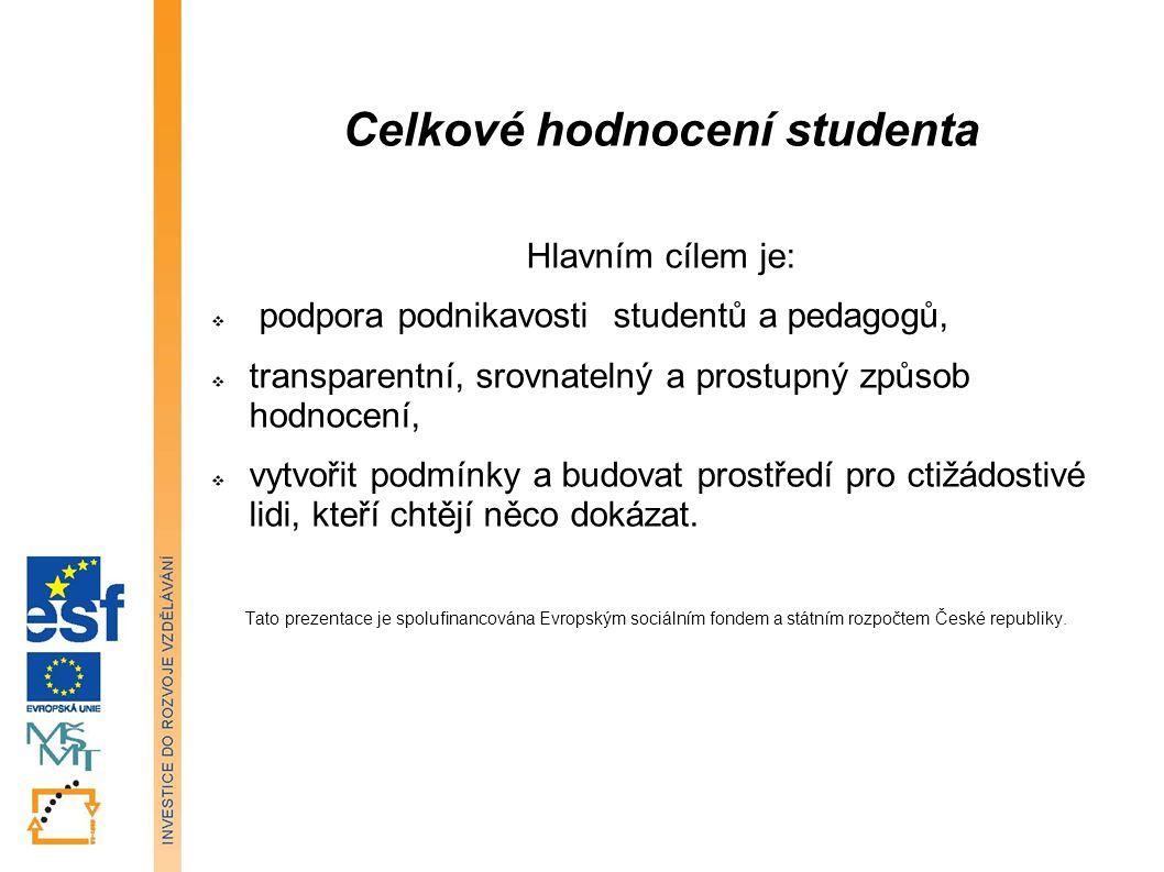 Celkové hodnocení studenta