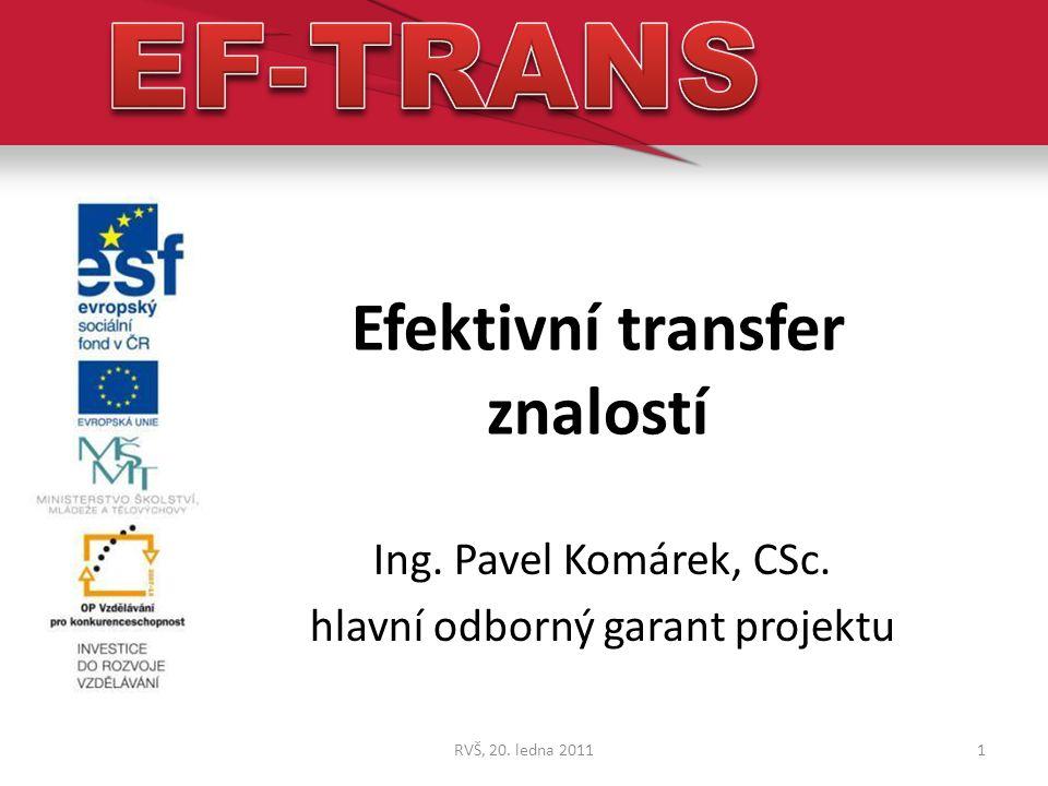 Efektivní transfer znalostí