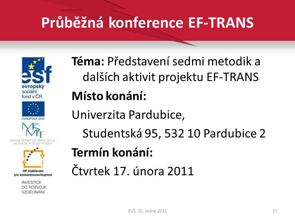 Průběžná konference EF-TRANS