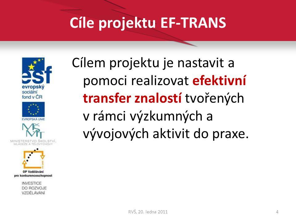 Cíle projektu EF-TRANS