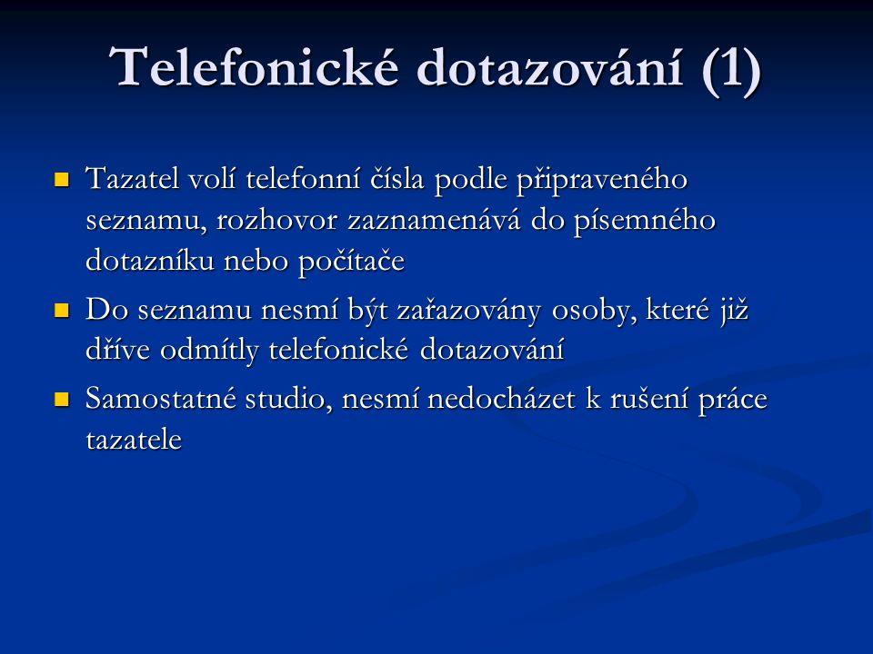 Telefonické dotazování (1)