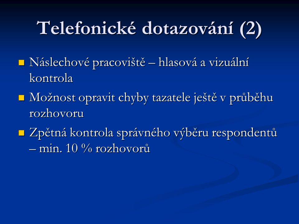 Telefonické dotazování (2)
