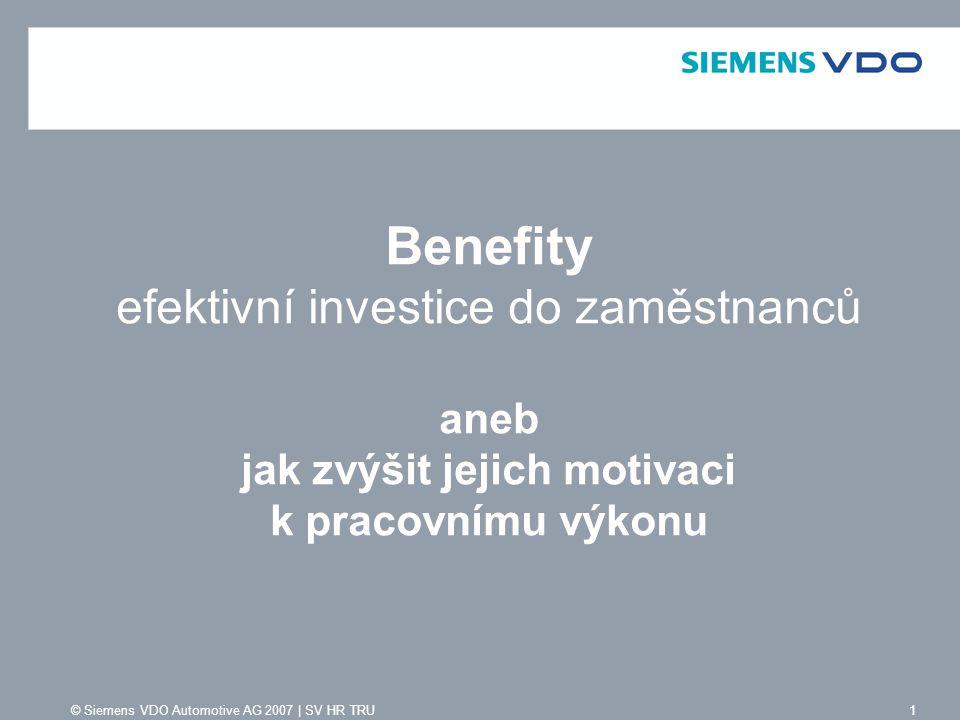 Benefity efektivní investice do zaměstnanců aneb jak zvýšit jejich motivaci k pracovnímu výkonu