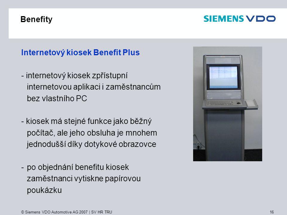 Internetový kiosek Benefit Plus - internetový kiosek zpřístupní