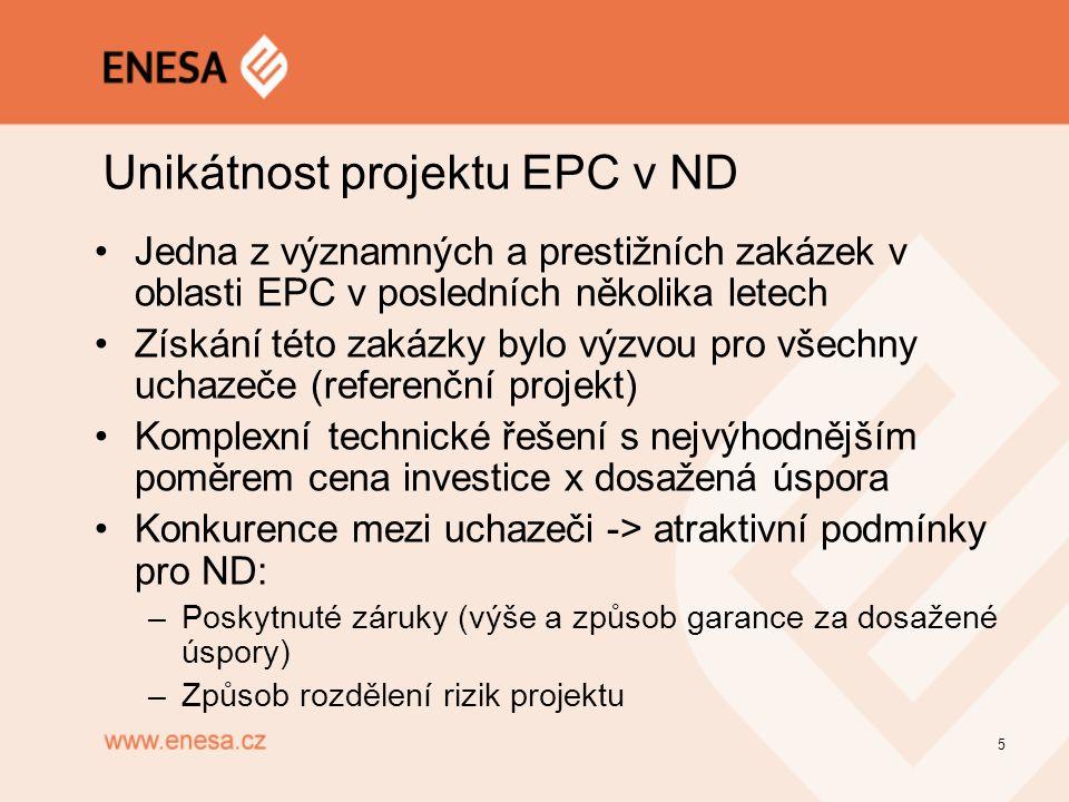 Unikátnost projektu EPC v ND