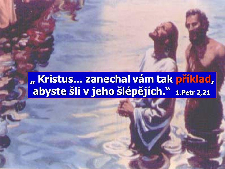 """"""" Kristus. zanechal vám tak příklad, abyste šli v jeho šlépějích. 1"""