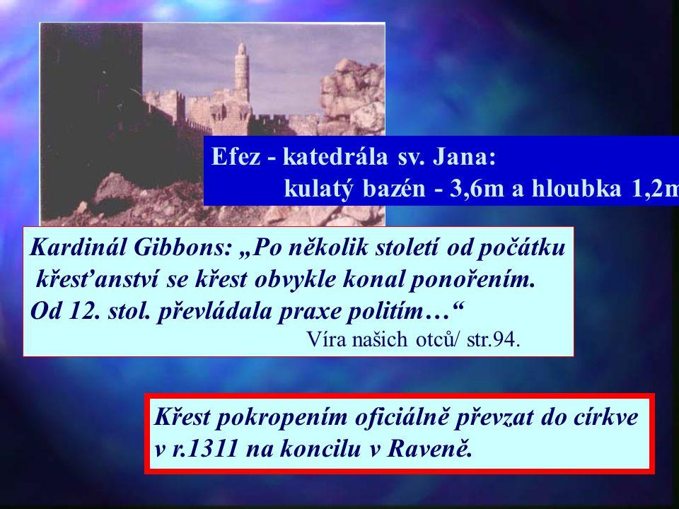 Efez - katedrála sv. Jana: kulatý bazén - 3,6m a hloubka 1,2m