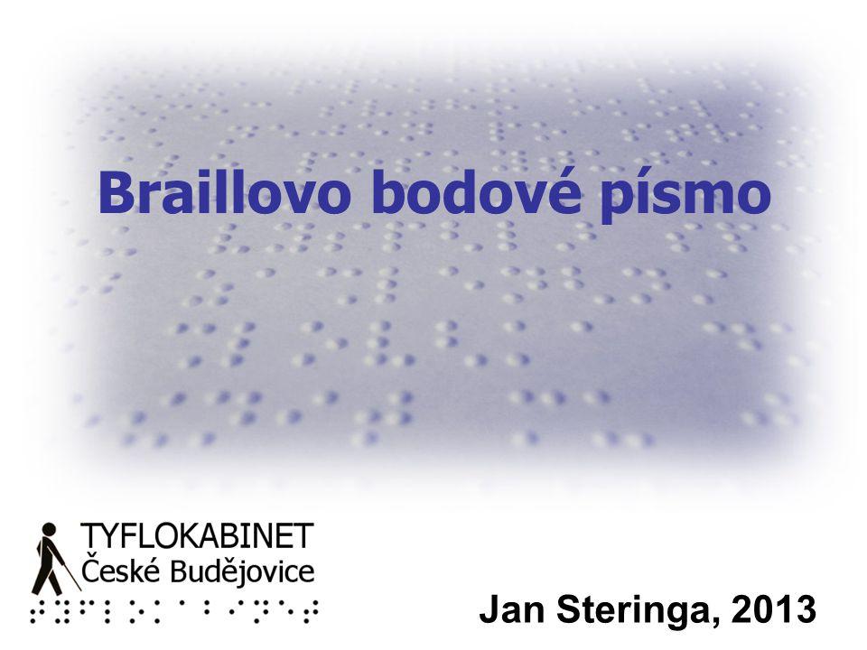 Braillovo bodové písmo