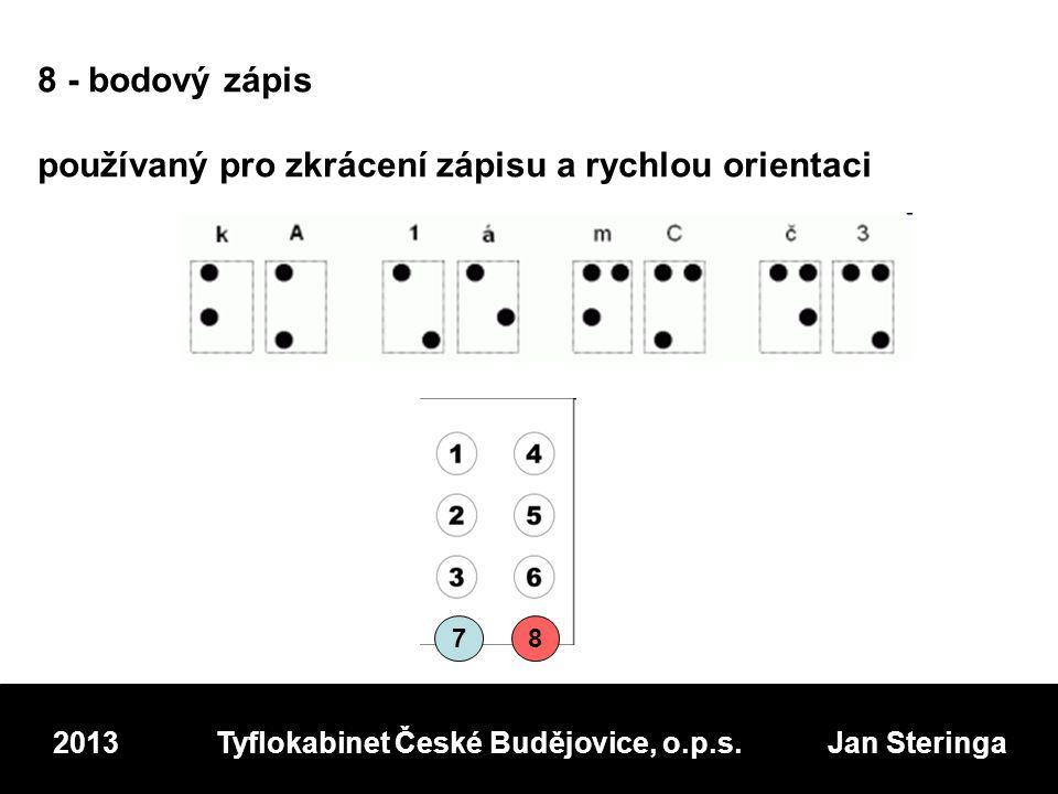 2013 Tyflokabinet České Budějovice, o.p.s. Jan Steringa