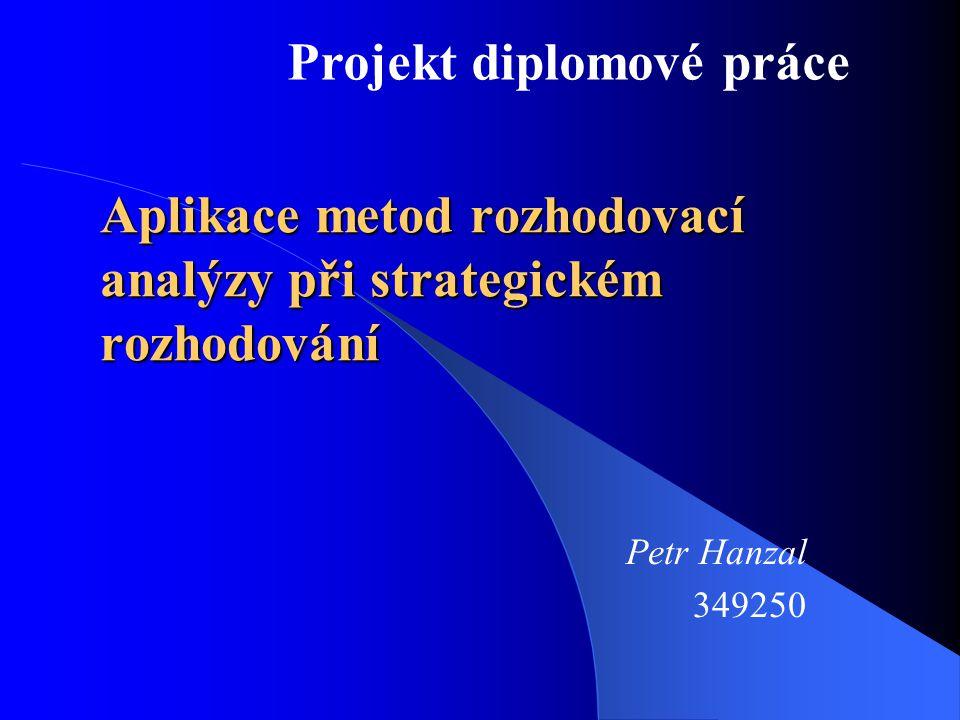 Aplikace metod rozhodovací analýzy při strategickém rozhodování