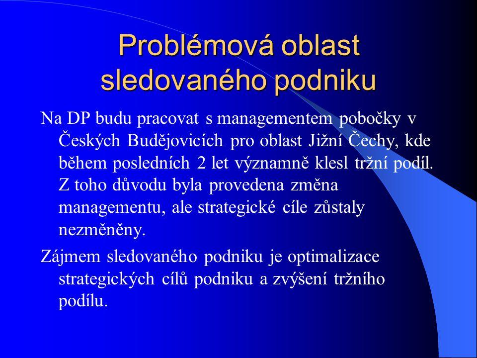Problémová oblast sledovaného podniku
