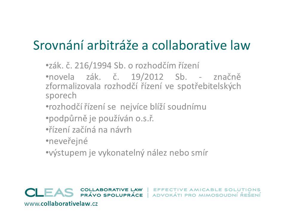 Srovnání arbitráže a collaborative law