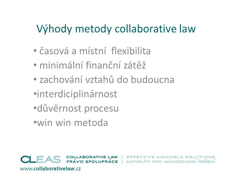 Výhody metody collaborative law
