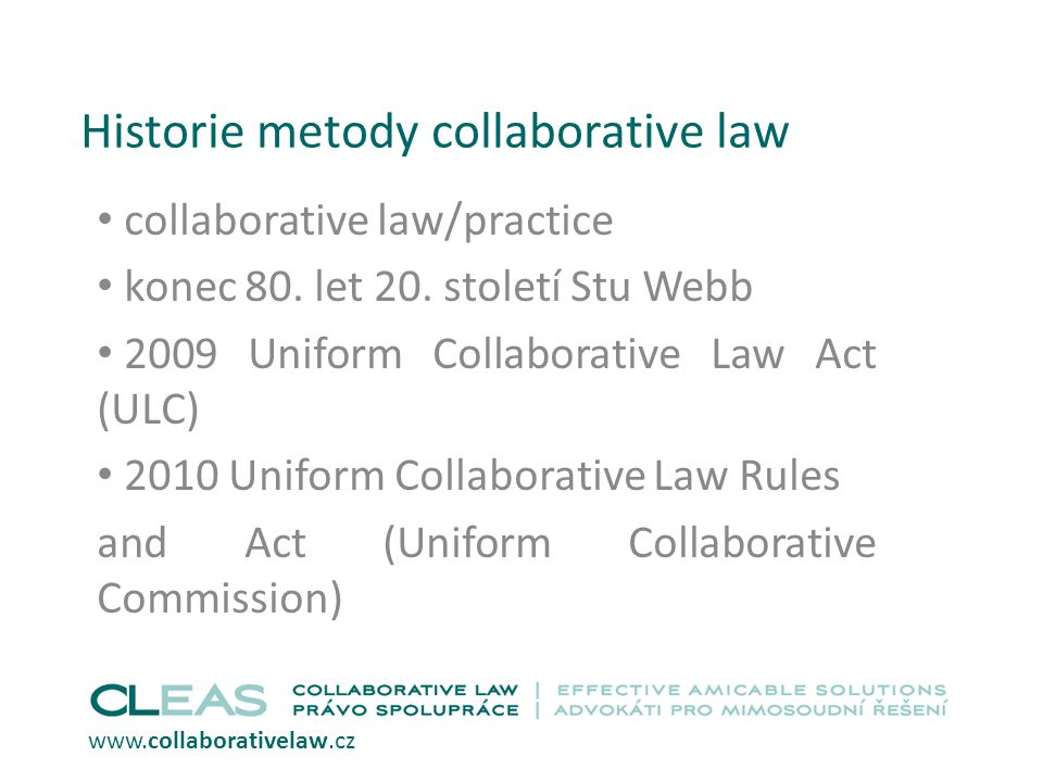 Historie metody collaborative law