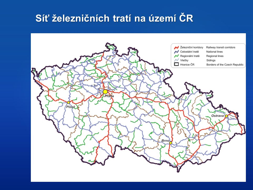 Síť železničních tratí na území ČR