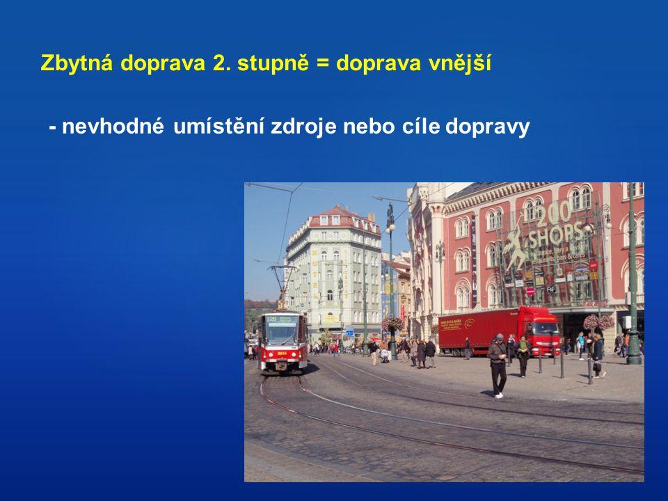 Zbytná doprava 2. stupně = doprava vnější