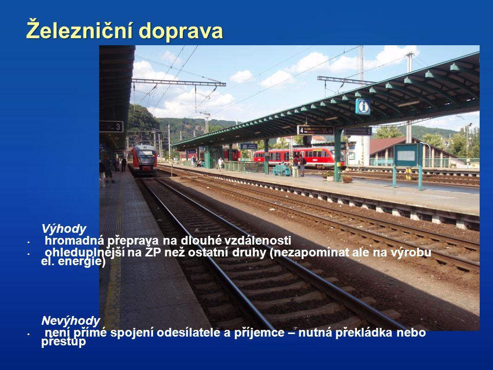 Železniční doprava hromadná přeprava na dlouhé vzdálenosti