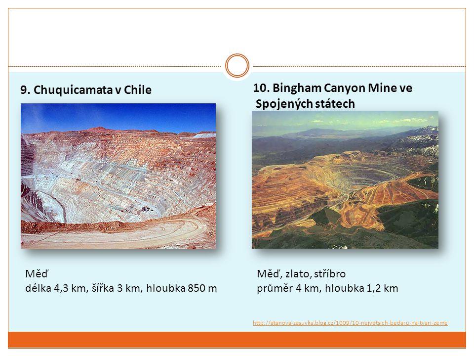 10. Bingham Canyon Mine ve Spojených státech