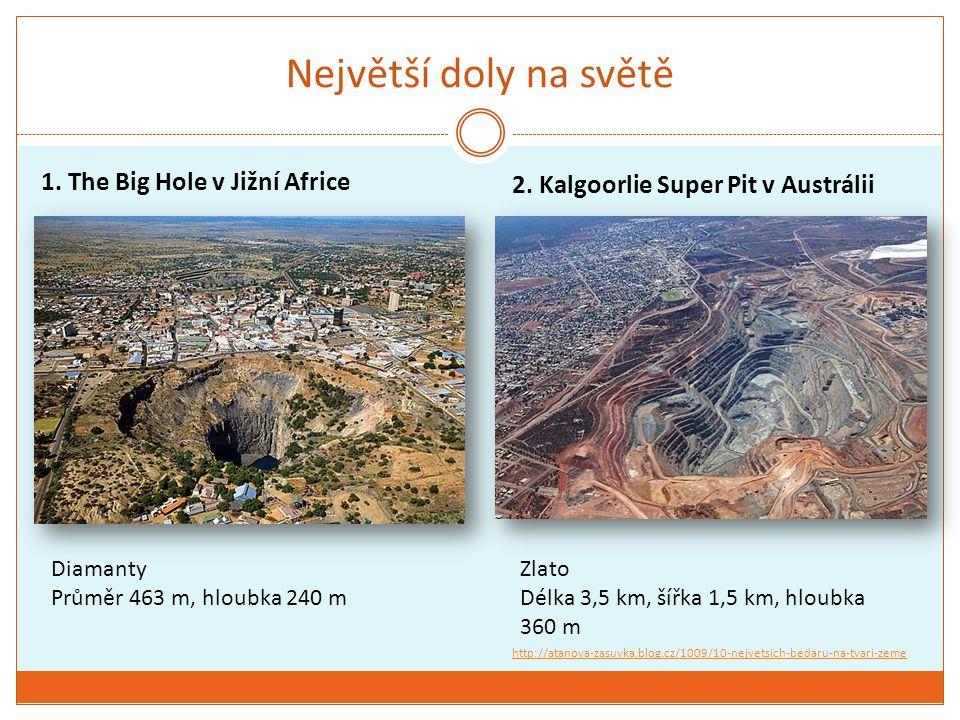 Největší doly na světě 1. The Big Hole v Jižní Africe