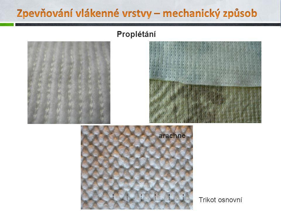Zpevňování vlákenné vrstvy – mechanický způsob