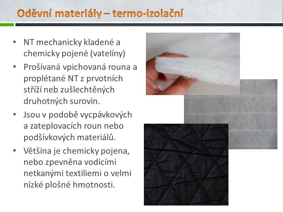 Oděvní materiály – termo-izolační