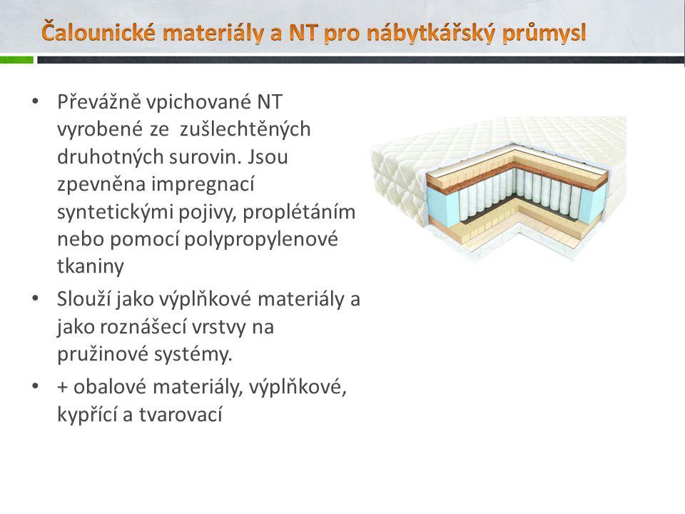 Čalounické materiály a NT pro nábytkářský průmysl