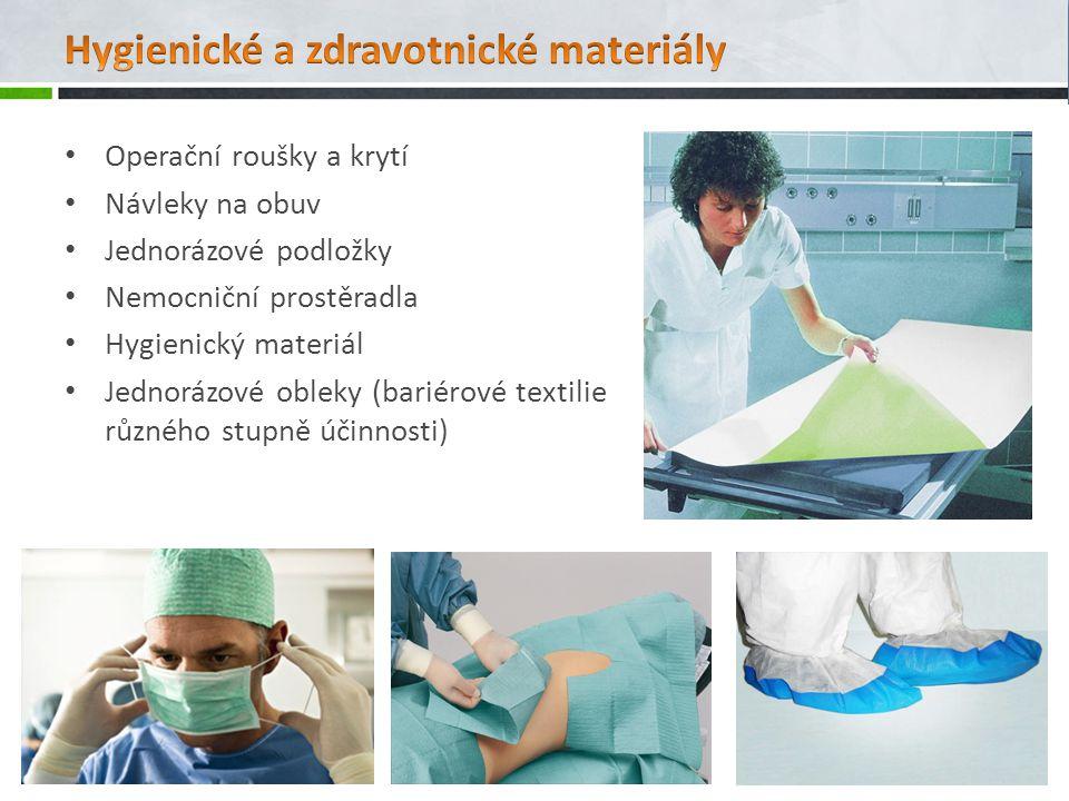 Hygienické a zdravotnické materiály
