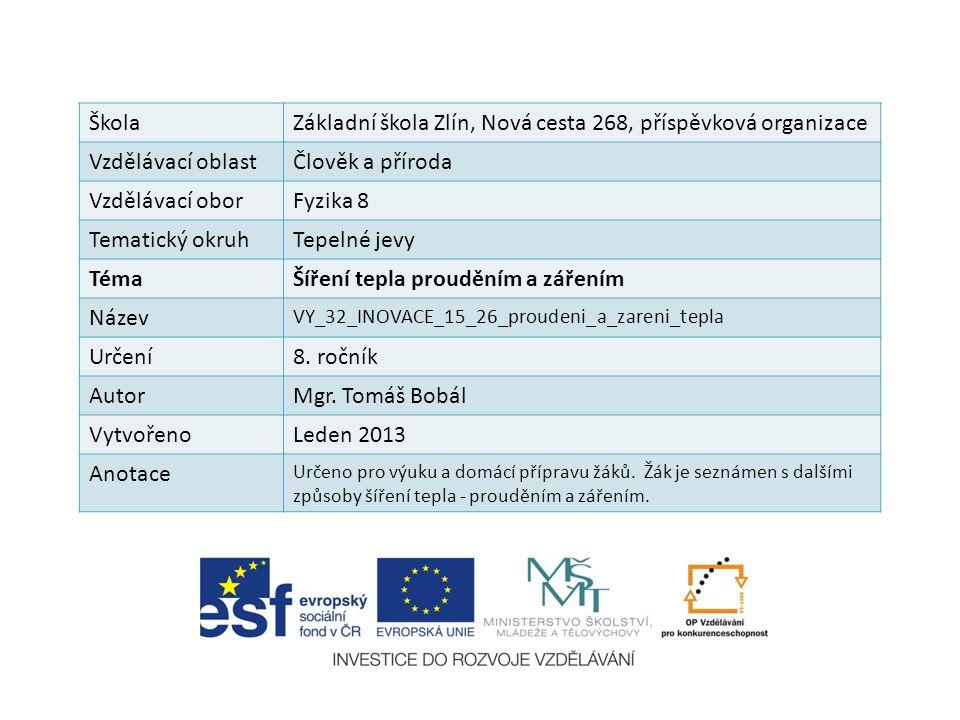 Základní škola Zlín, Nová cesta 268, příspěvková organizace