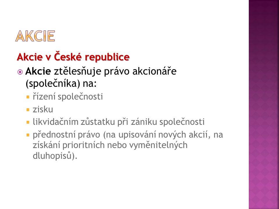 akcie Akcie v České republice
