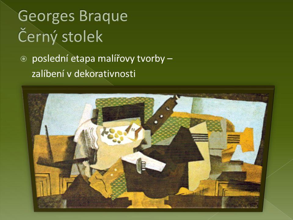 Georges Braque Černý stolek