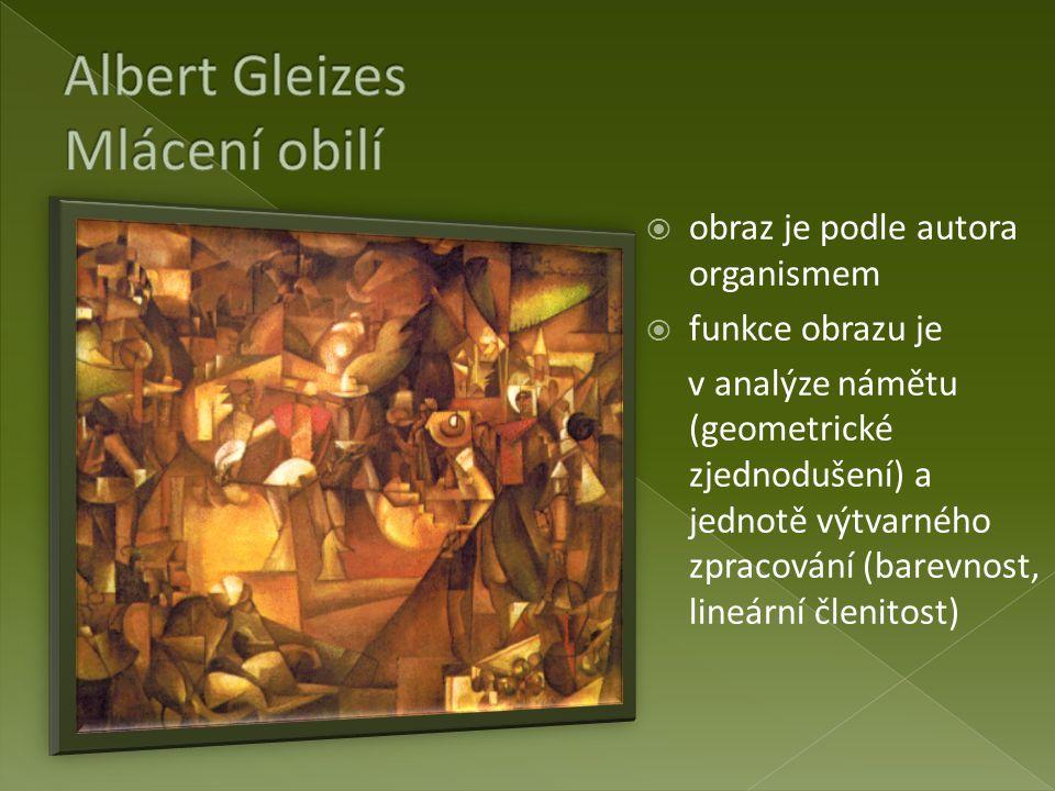 Albert Gleizes Mlácení obilí