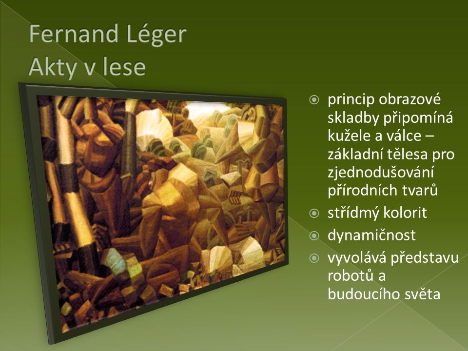 Fernand Léger Akty v lese