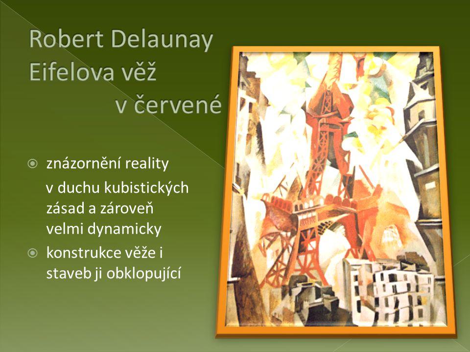Robert Delaunay Eifelova věž v červené