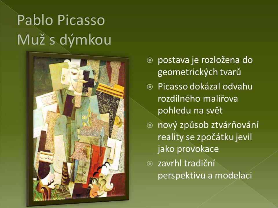 Pablo Picasso Muž s dýmkou