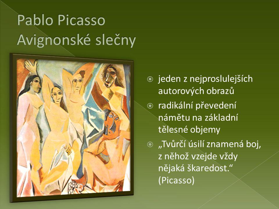 Pablo Picasso Avignonské slečny